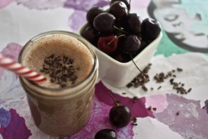 Warm Chocolate Cherry Coconut Smoothie
