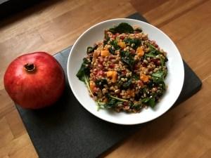 Farro, Roasted Squash and Kale Salad