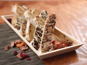Espresso Biscotti with Toasted Pecans