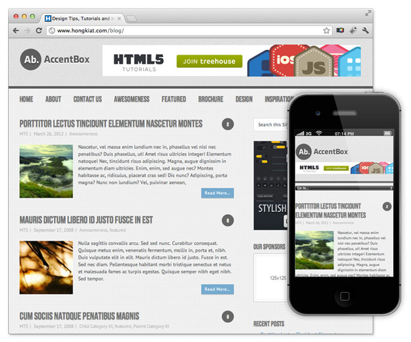 responsive theme wordpress accentbox