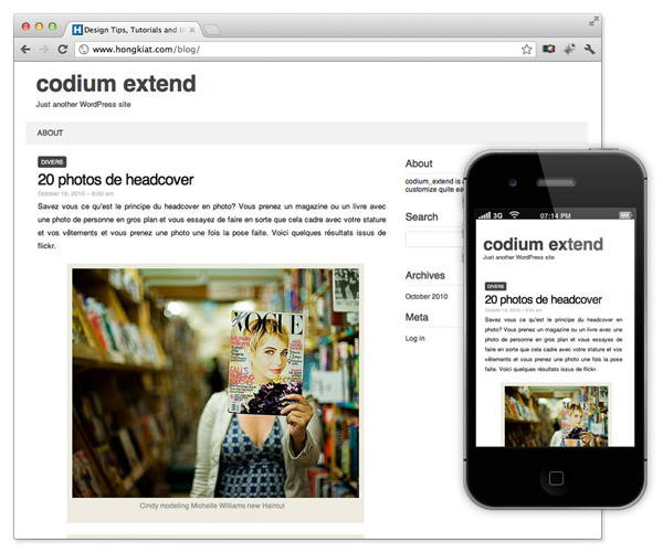responsive theme wordpress codium-extend
