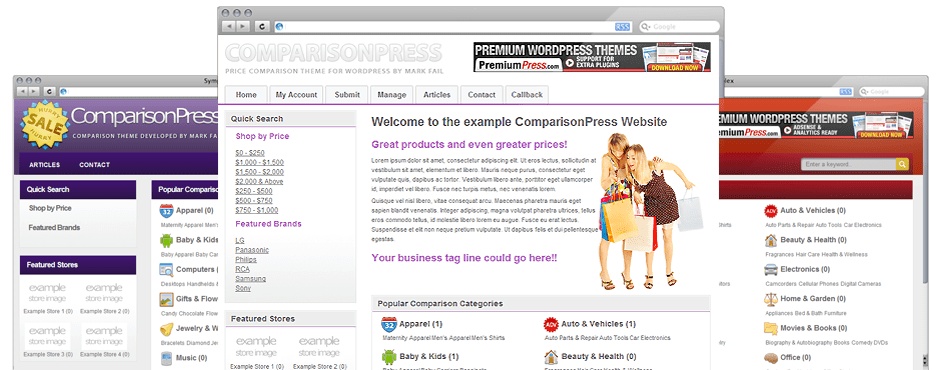 comparisonpress wp theme