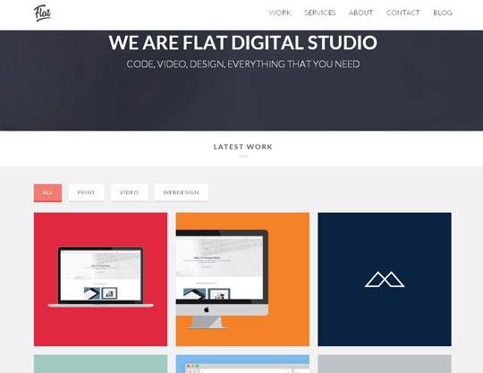 flat studio portfolio wordpress theme