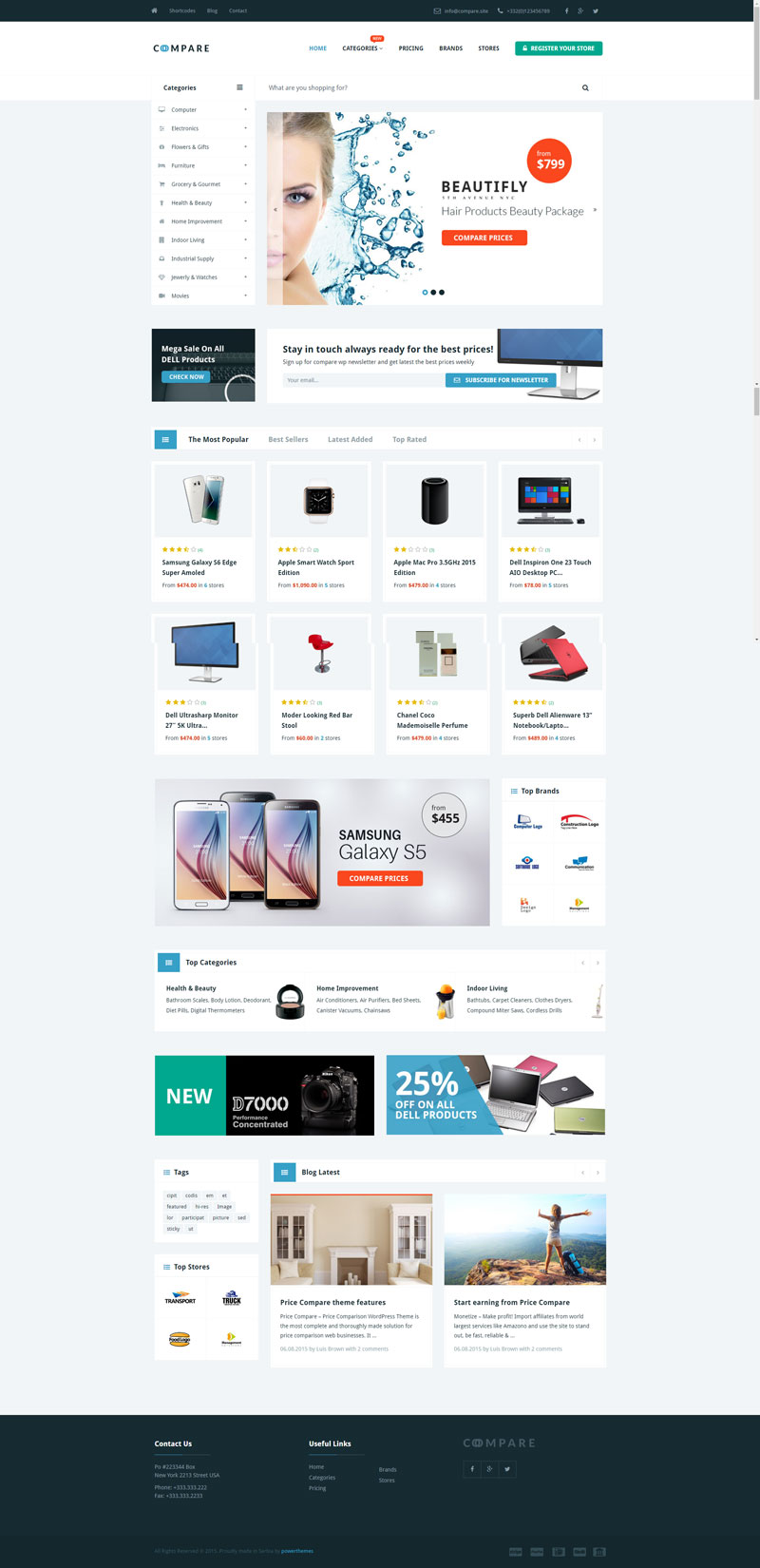 price comparison wordpress affiliate theme website
