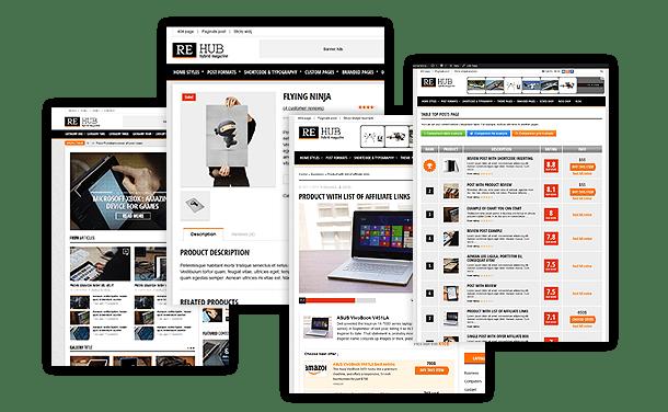 re-hub-affiliate-wordpress-theme-different-styles