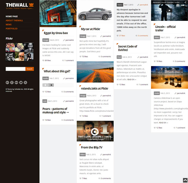 thewall wordpress theme