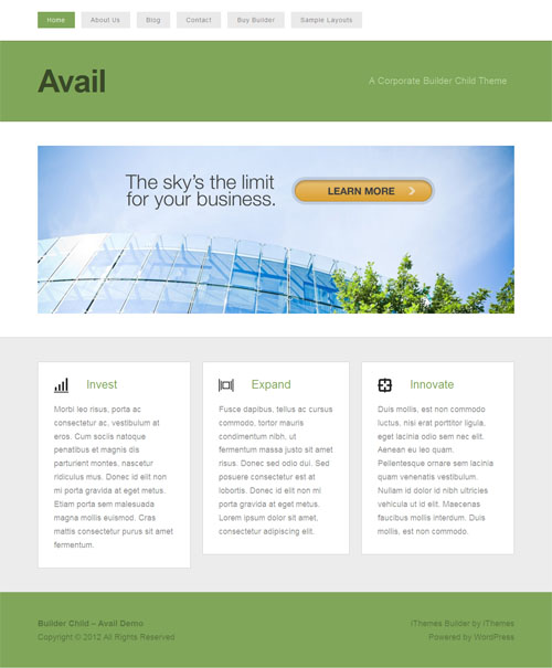 avail wordpress theme