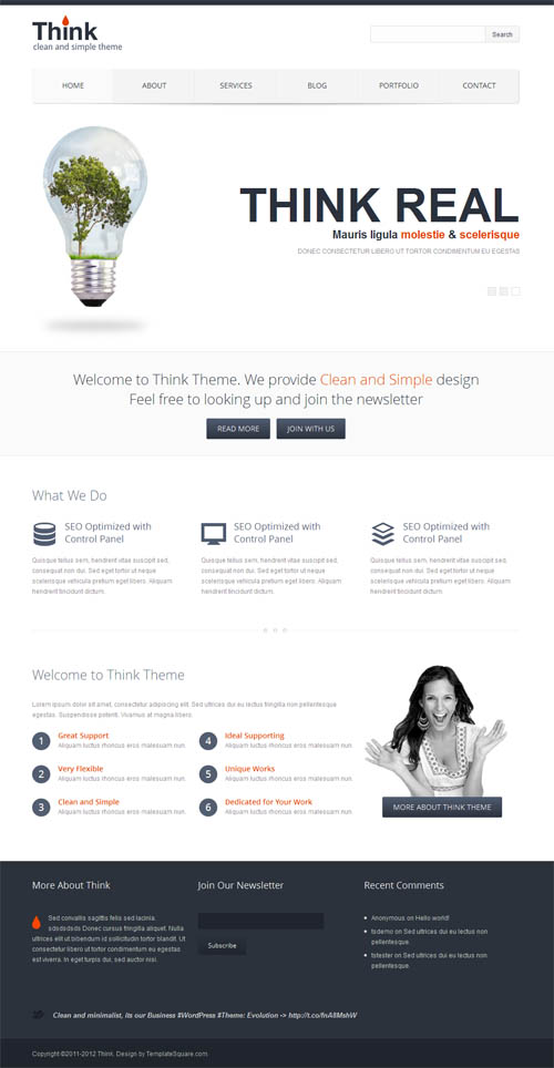 think wordpress theme