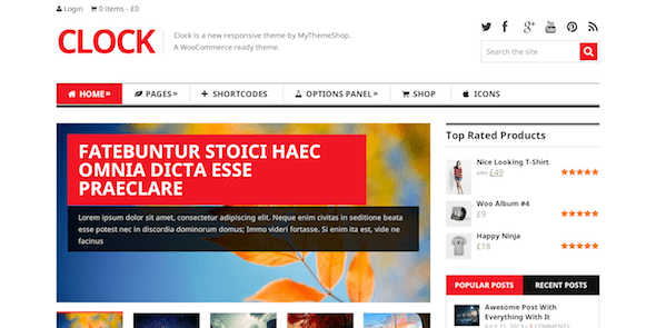 clock wordpress theme