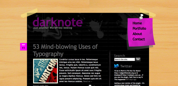 darknote wordpress theme
