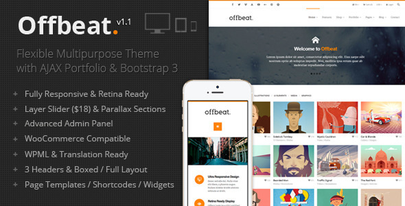 offbeat wordpress theme