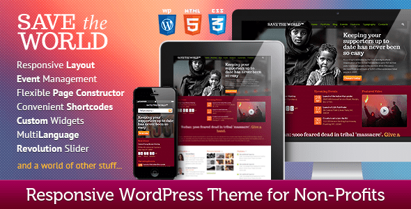 save the world wordpress theme