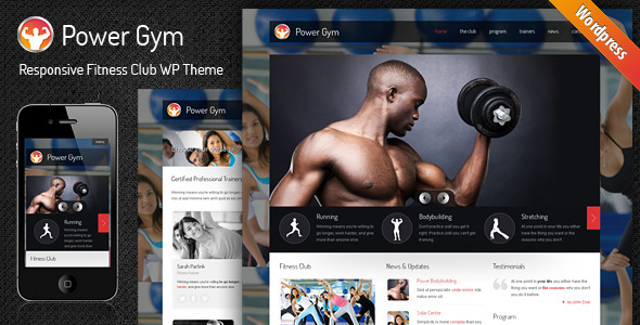 powergym wordpress theme