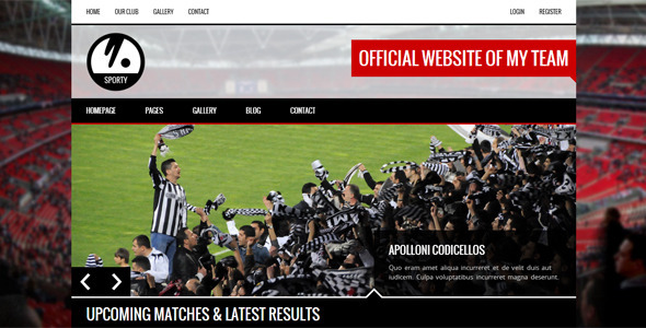 sporty wordpress theme