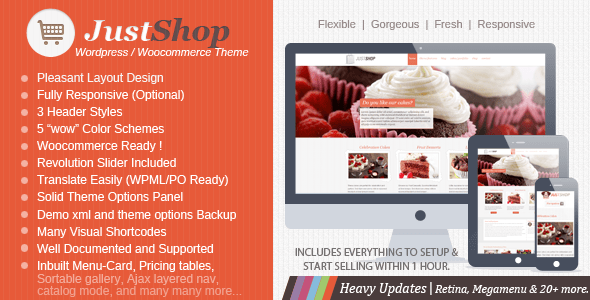 just shop wordpress theme
