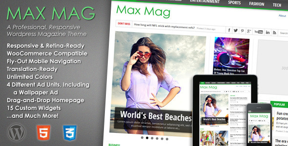 maxmag wordpress theme