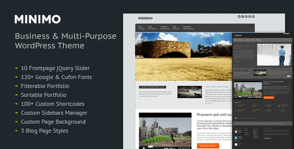 minimo wordpress theme