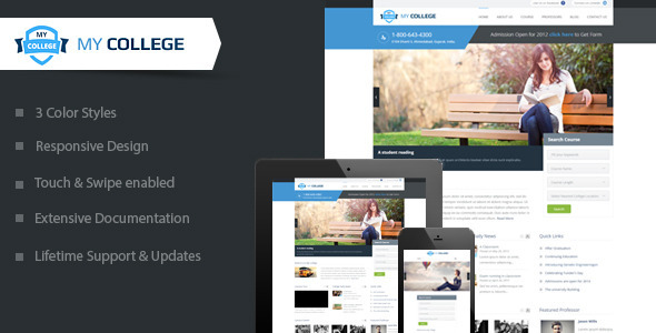 mycollege wordpress theme