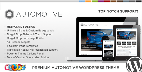 wp pro automotive wordpress theme