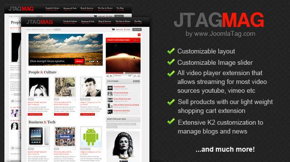 magazine joomla templates