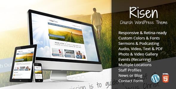 responsive church theme