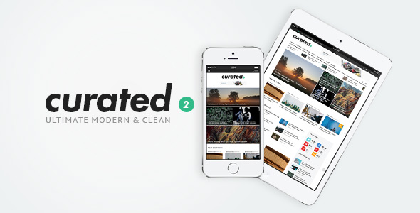 curated modern magazine theme