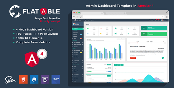 flat able admin template