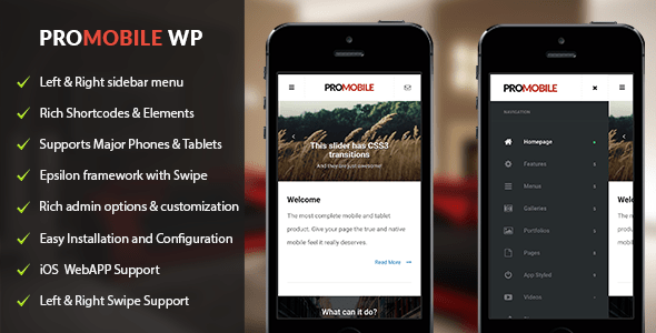 pro mobile woo commerce wordpress theme