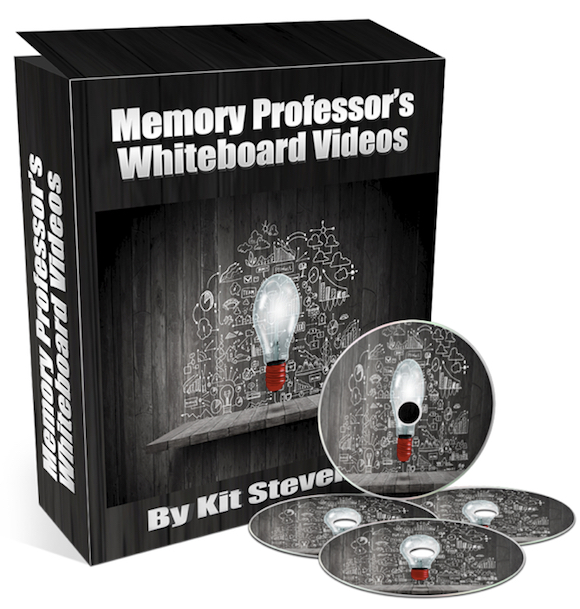 The Memory Professor System  Image of COver red whiteboard video package