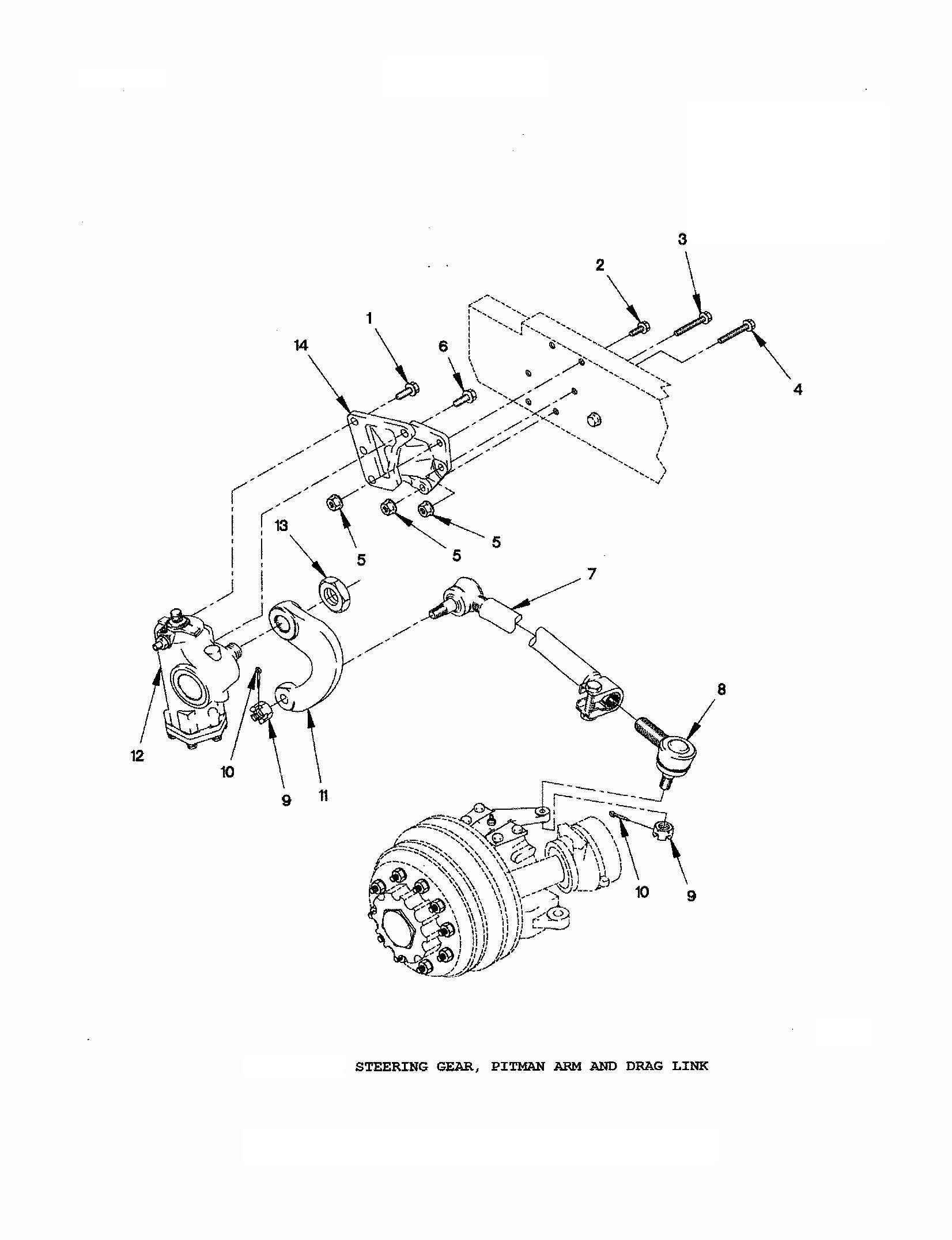 Draglink Steering Arm To Pitman Arm Fmtv Lmtv