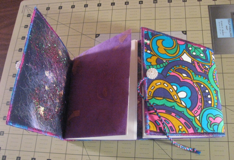 fabric covered gatefold journal