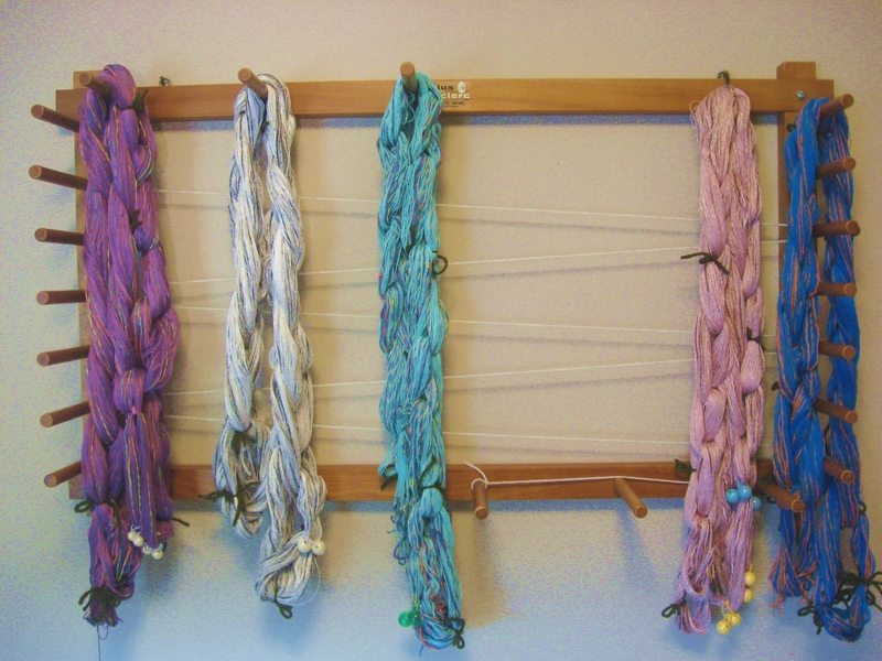 5 warp chains for scarves