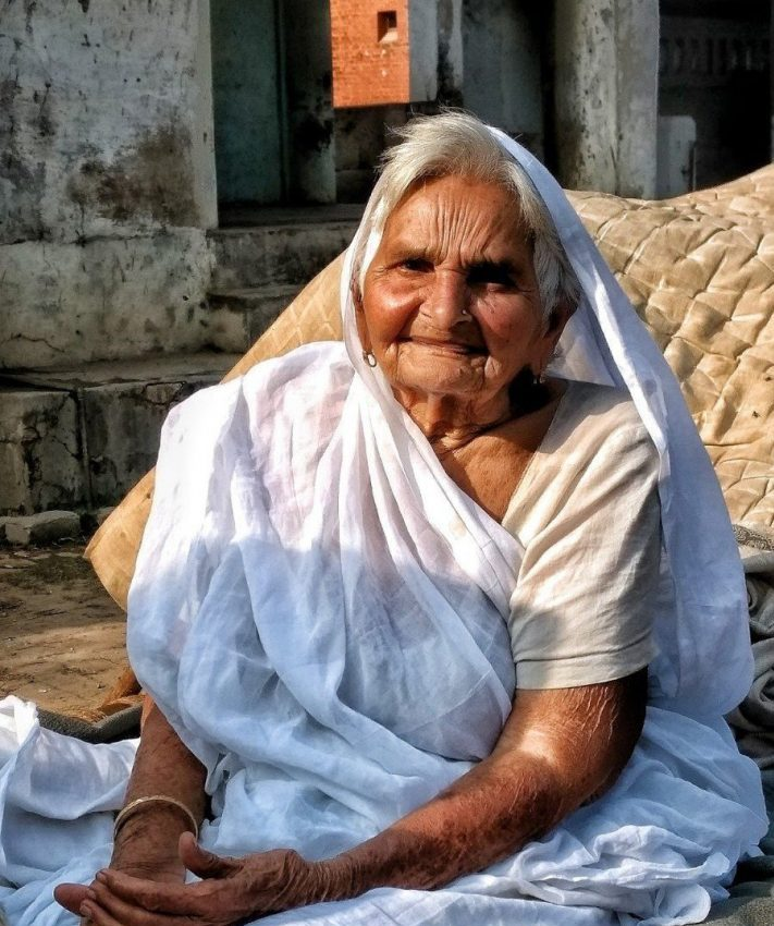 Portrait, Graceful in Old Age, Holipura, Uttar Pradesh