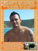 Levantado por policías en Poza Rica, Veracruz, desaparecido en noviembre de 2015. Sin investigación seria.