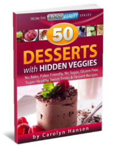Desserts with hidden veggies book cover
