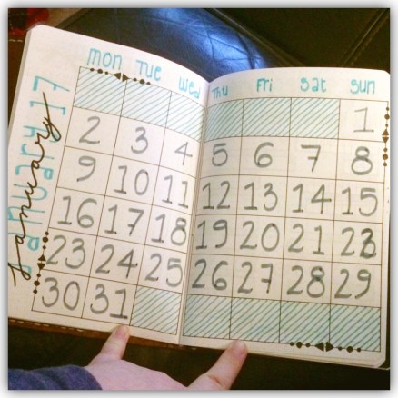 Month on 2 pages