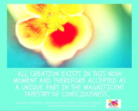 Creation exists...