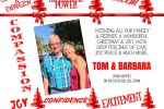 Merry Christmas Love Tom and Barbara Franken