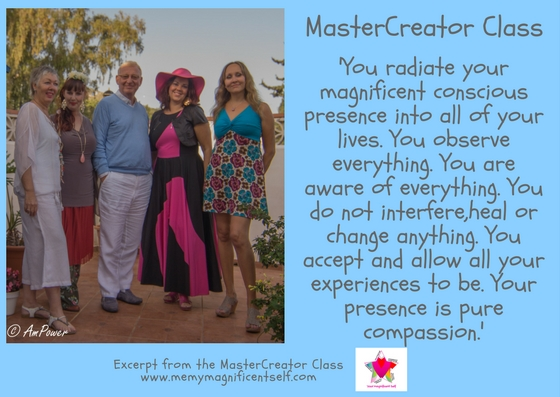 you radiate your magnificent presence