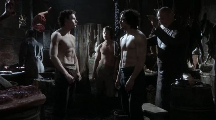 Topless Robb Stark (Richard Madden) Jon Snow (Kit Harington) Theon Greyjoy (Alfie Allen)