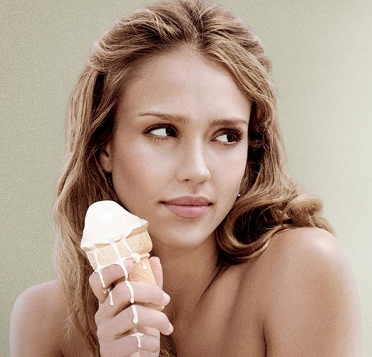Jessica Alba thoughtful look & resoluble Ice Cream Scene from Good Luck Chuck 900x864