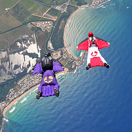 Skydiving in a lilo