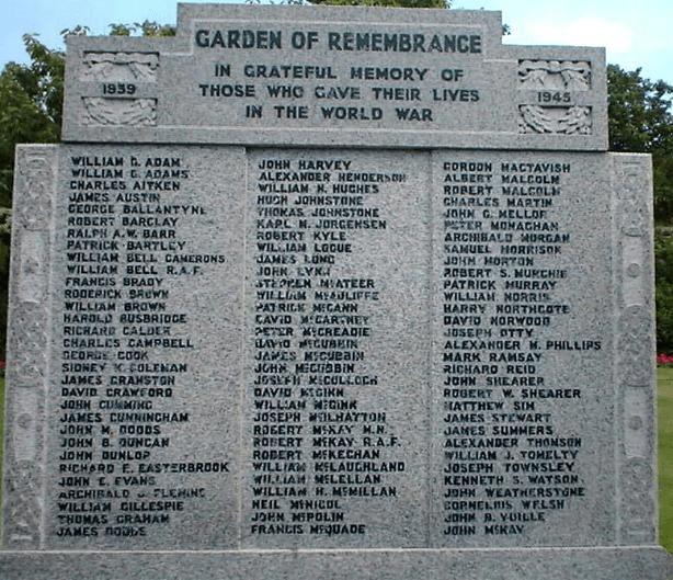 A typical war memorial