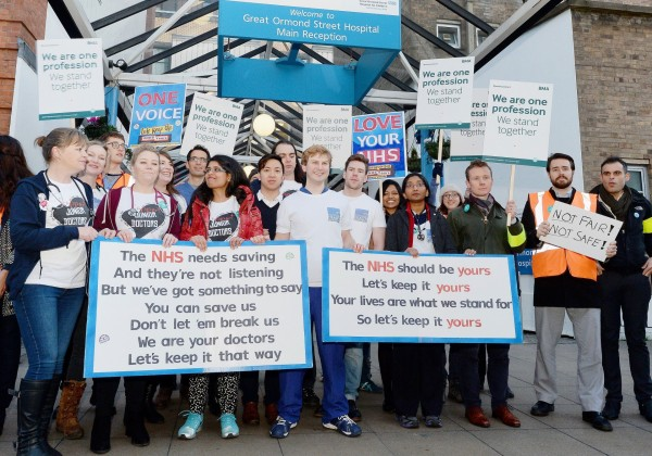 Great Ormond Str Hospital Junior Doctors demonstration