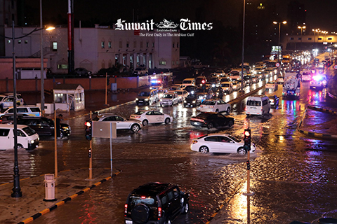Kuwait got year of rain in one night