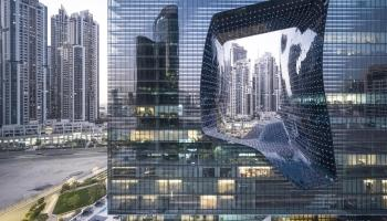 Source: Laurian Ghinitoiu Zaha Hadid Architects' Opus hotel and flats in Dubai. The ME Hotel opened in the building this year.