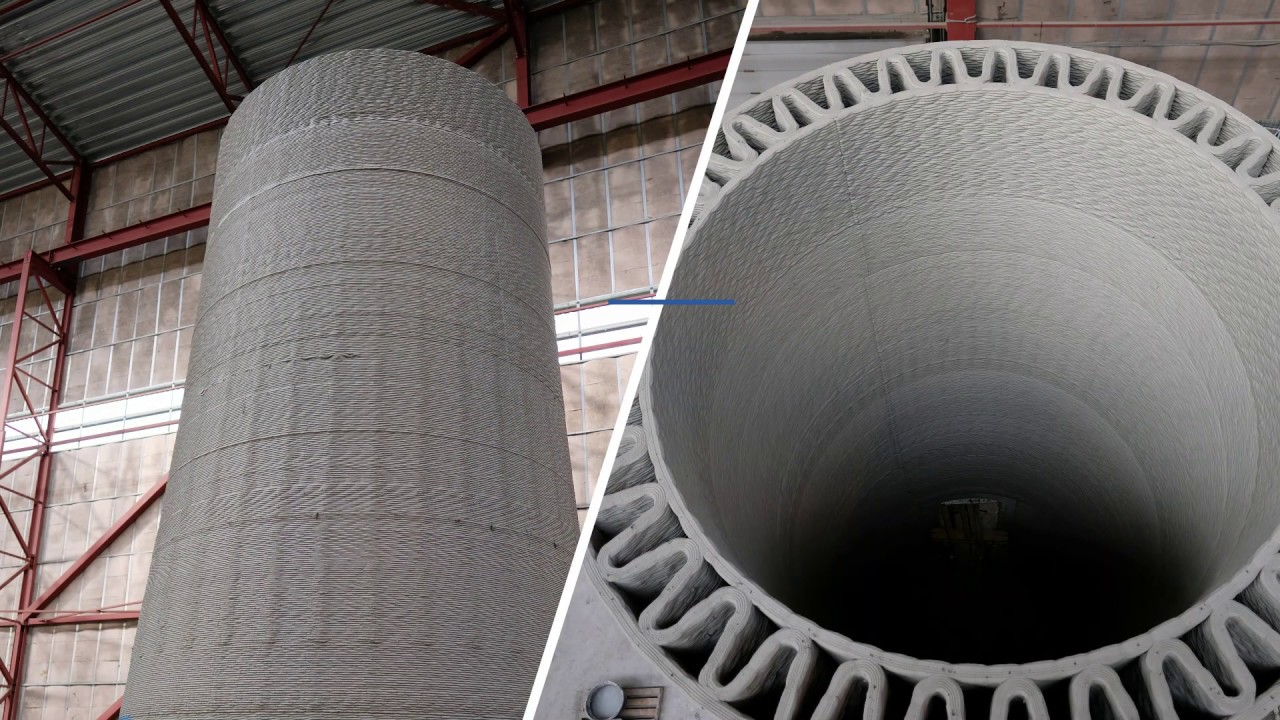 Record Tall Wind Turbine Towers With 3d Printed Concrete Bases