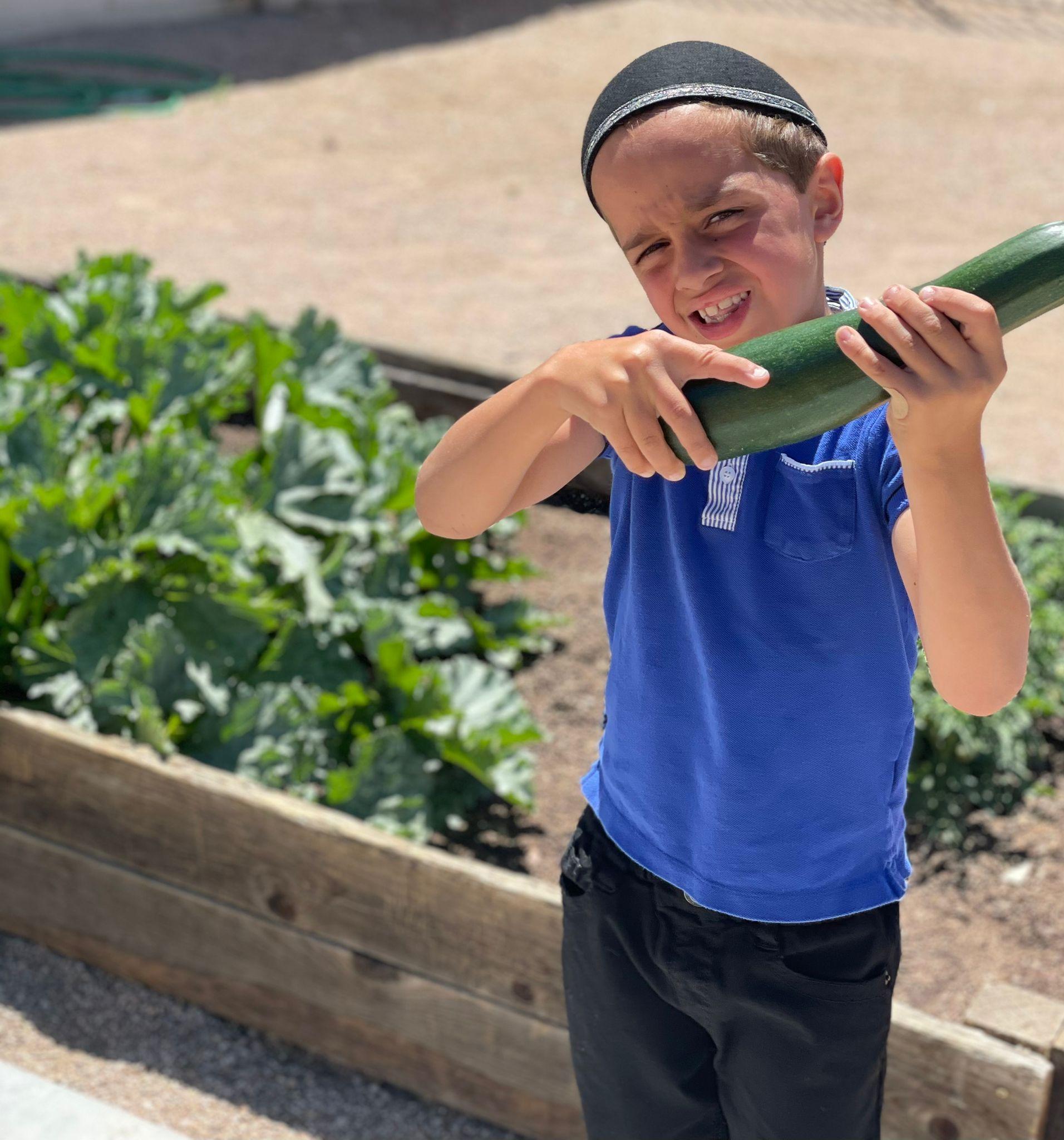 MMA student with zucchini