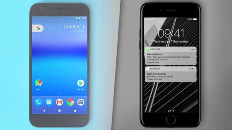 iPhone 7 vs. Google Pixel