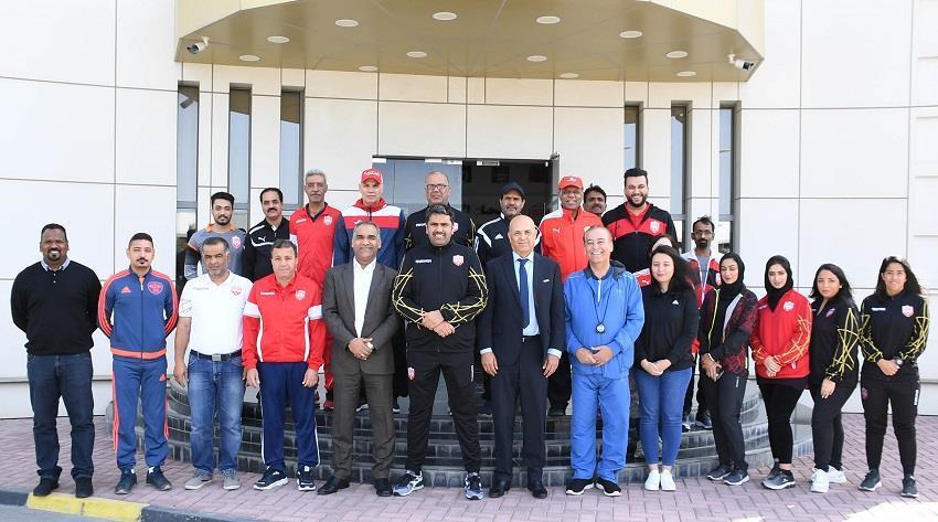 الاتحاد البحريني لكرة القدم يشارك في فعاليات اليوم الرياضي الوطني